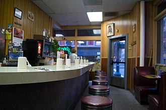 Lunch counter - Image: John's Cafe