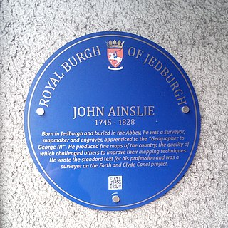 John Ainslie Surveyor and cartographer