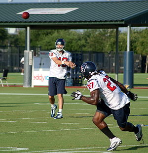 Chris Henry (running back) - Henry receives a pass from John David Booty in 2010