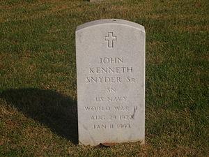 John K. Snyder - Grave of John K. Snyder in Alexandria National Cemetery in Pineville