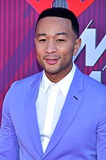 Photo of John Legend at the iHeartRadio Music Awards 2019.