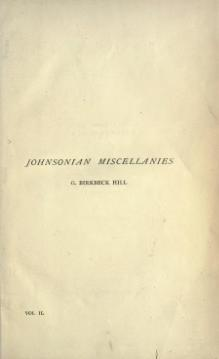 Johnsonian Miscellanies II.djvu
