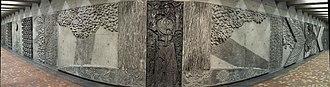 Pie-IX station - Citius, Altius, Fortius, a relief by Jordi Bonet.