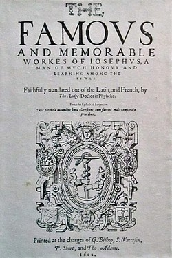 Works Flavius Josephus, First Edition