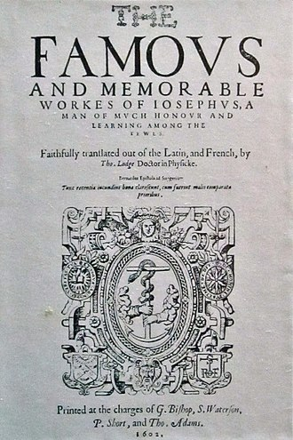 Josephus - The works of Josephus translated by Thomas Lodge (1602).