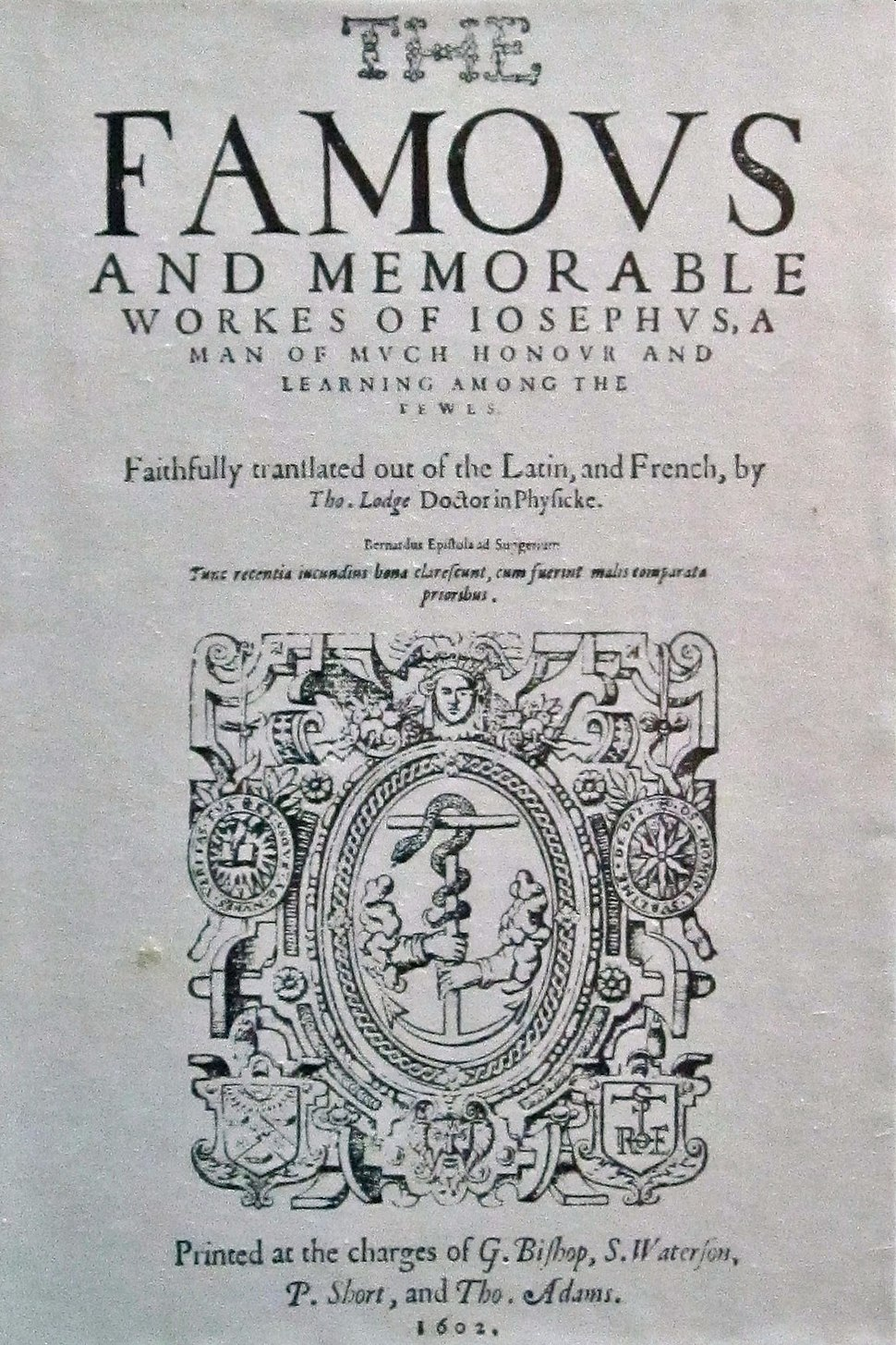 Josephus flavius, english 1602