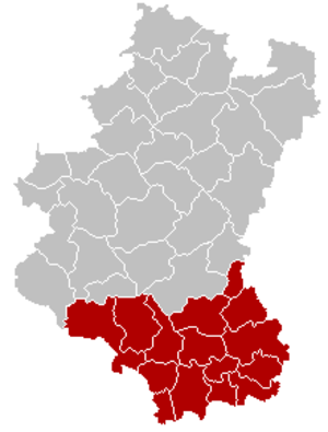 Arrondissement of Arlon - Map of the Judicial Arrondissement of Arlon
