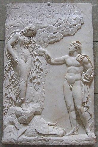 Perseus - Julius Troschel: Perseus und Andromeda, c. 1845, Neue Pinakothek, Munich