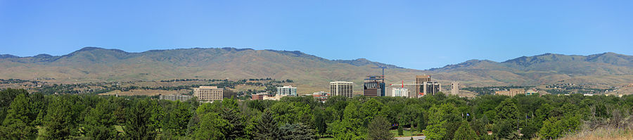 June 2013 boise downtown panorama