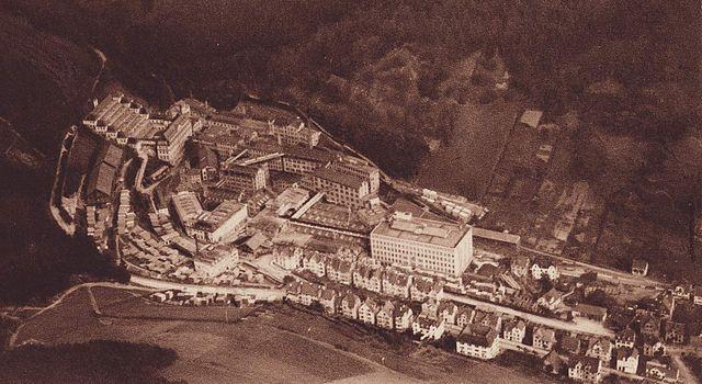 Uhrenfabriken Gebrüder Junghans A.G., Luftaufnahme um 1930