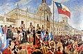 Jura de la Independencia en la Plaza de Armas de Santiago.jpg