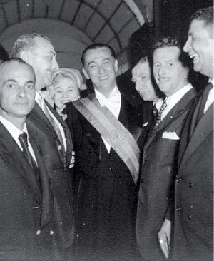 Juscelino Kubitschek - President Kubitschek and some cabinet members on inauguration day, 31 January 1956.
