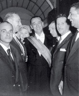 Juscelino Kubitschek - President Kubitschek and some cabinet members on inauguration day, 31 January 1956.