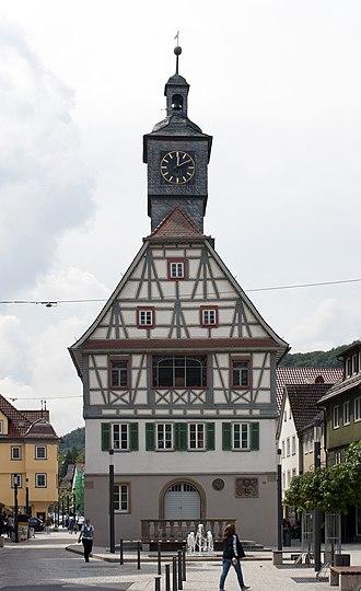 Künzelsau - The old Rathaus of Künzelsau.