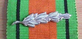 Defence Medal (United Kingdom) - Emblem denoting a King's Commendation for Brave Conduct