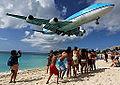 KLM Asia Boeing 747-400 landing at SXM.jpg