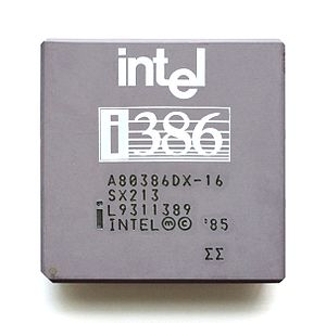Intel 80386 - Intel 80386 DX rated at 16 MHz