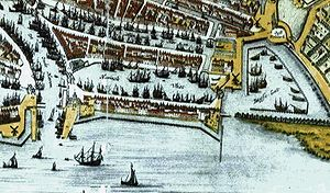 Admiralty of Rotterdam - Map of the Haringvliet in 1652