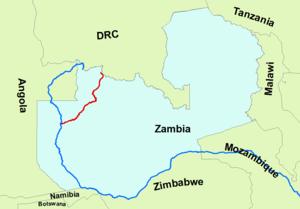 Kabompo River - Image: Kabompo River Course