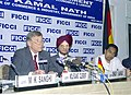Kamal Nath and the German Minister of Economics and Labour, Mr. Wolfgang Clement at the joint addressing the Interactive Session of the Indian German Bureau & Industry, in New Delhi on April 5, 2005.jpg