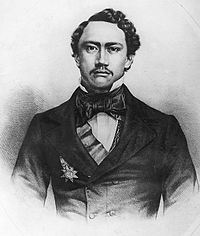 Kamehameha IV, lithograph by Grozelier (cropped).jpg