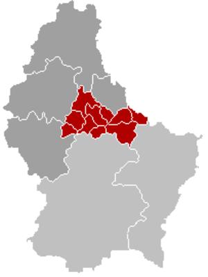Diekirch (canton) - Image: Kanton Diekirch Locatie