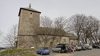 Karmøy - View of the historic Avaldsnes Church