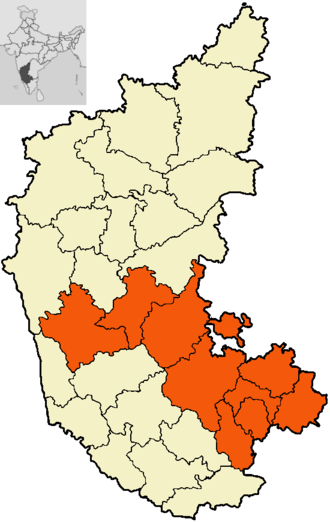Bangalore division - The districts of Bangalore division.