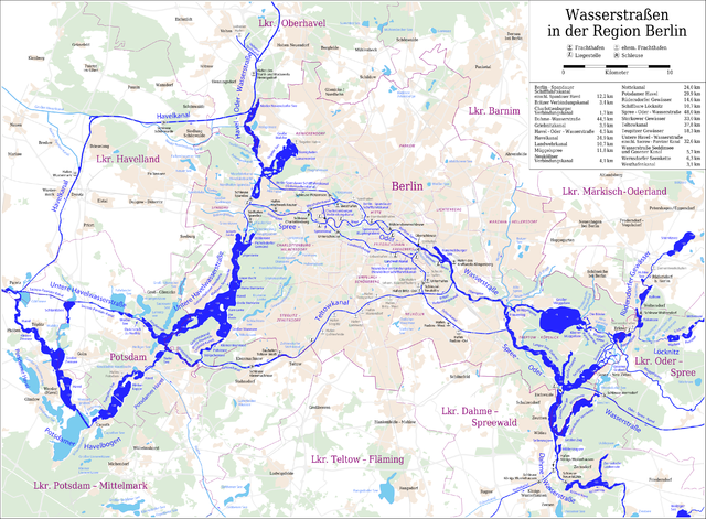 Spree Karte.File Karte Der Berliner Wasserstrassen Png Wikimedia Commons