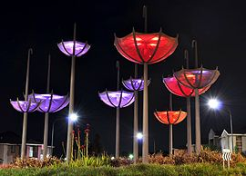 Kellyville Ridge Upside Down Umbrellas Night View.jpg