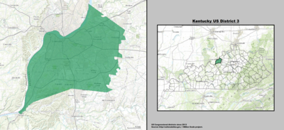 Kentucky's 3rd congressional district - since January 3, 2013.