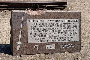 Keweenaw Rocket Range Commemorative Monument.jpg