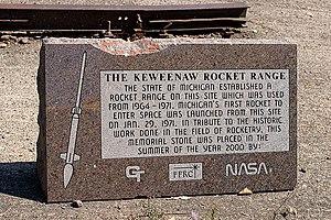 Keweenaw Rocket Range - Commemorative monument at the Keweenaw Rocket Range.