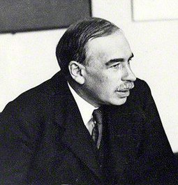 John Maynard Keynes, one of the most influential economists of modern times and whose ideas, which are still widely felt, formalized modern liberal economic policy Keynes 1933.jpg