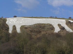 Kilburn White Horse - The White Horse as viewed from the car park beneath