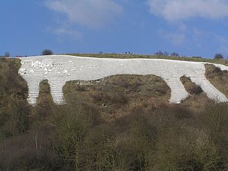 Kilburn White Horse - The White Horse as viewed from the car park beneath