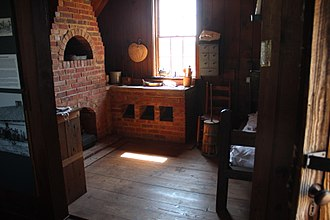 Cherokee freedmen controversy - Inside a slave cabin at the Chief Vann House