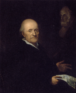 Georg Heinrich Sieveking - Friedrich Gottlieb Klopstock, painting by M. E. Vogel