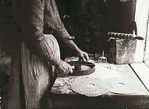 Crispbread - Crispbread baking in Värmland (1911)