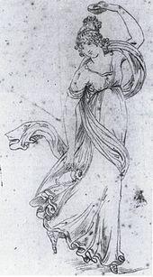 Christoph Heinrich Kniep: Ida Bruhn als Tänzerin (um 1815) (Quelle: Wikimedia)