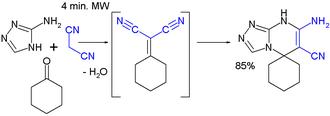 Knoevenagel condensation - Knoevenagel tandem application