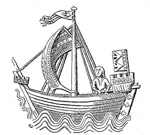 Cog (ship) - Relatively proportioned cog in the Seal of Stralsund