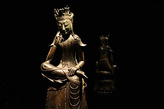 Korea-Gilt-bronze pensive Maitreya-National Treasure No. 78-01