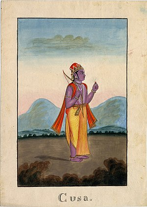 Kusha (Ramayana) - Kusa, one of the twin son's of Rama and Sita.