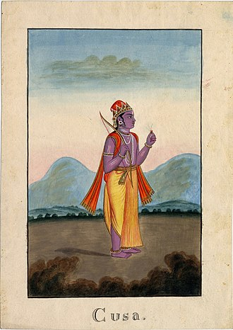 Kusha (Ramayana) - Kusa, one of the twin son's of Rama and Sita.