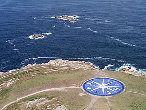A Coruña - Compass rose representing the different Celtic peoples (near the Tower of Hercules).