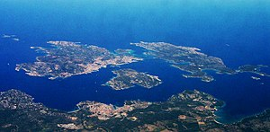 Maddalena archipelago - Aerial view of the archipelago