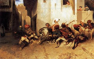 Alexandre-Gabriel Decamps - A version of The Turkish Patrol (1831)