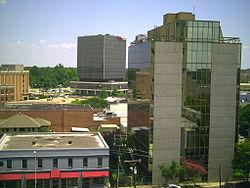 Centre-ville de Lafayette, Louisiane
