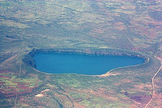 Lake Chala - Aerial Photo of Lake Chala